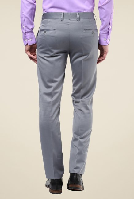 Turtle Grey Solid Trousers
