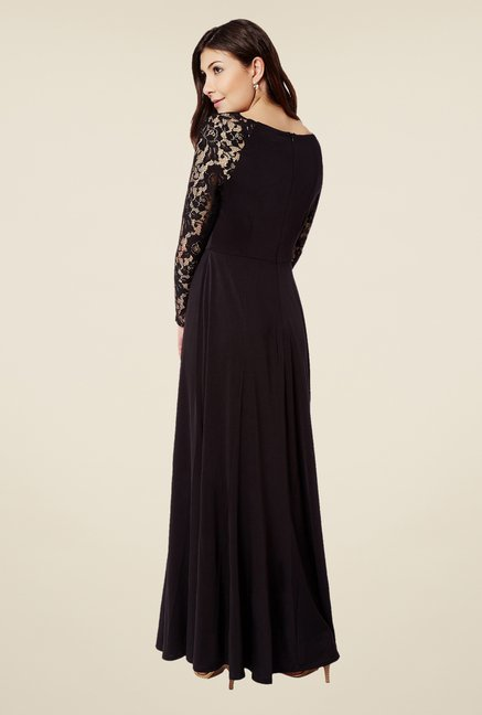 Avirate Black Maxi Dress