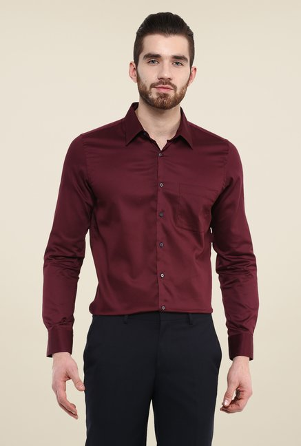 Turtle Maroon Solid Shirt