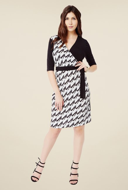 Avirate Black Wrap Dress