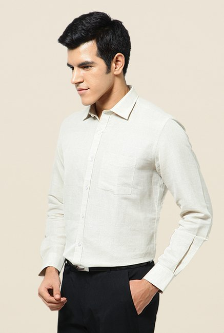 Turtle Cream Textured Shirt