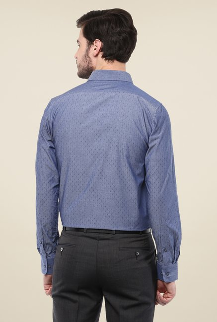 Turtle Blue Printed Cotton Shirt