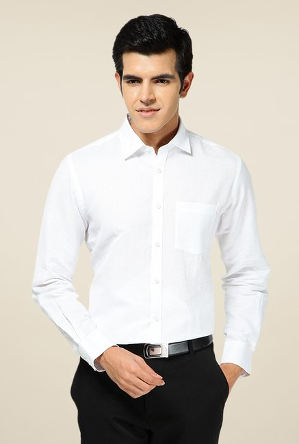 Turtle White Solid Shirt