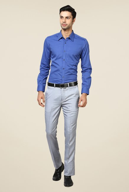 Turtle Blue Solid Shirt