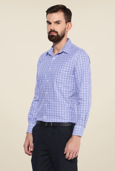 Turtle Purple Checks Slim-fit Shirt