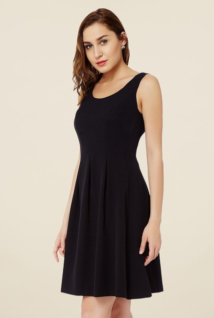 Avirate Black A Line Dress