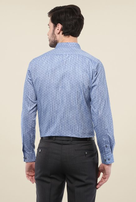 Turtle Blue Printed Full Sleeve Shirt