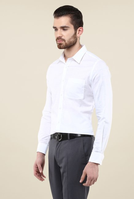 Turtle White Textured Shirt