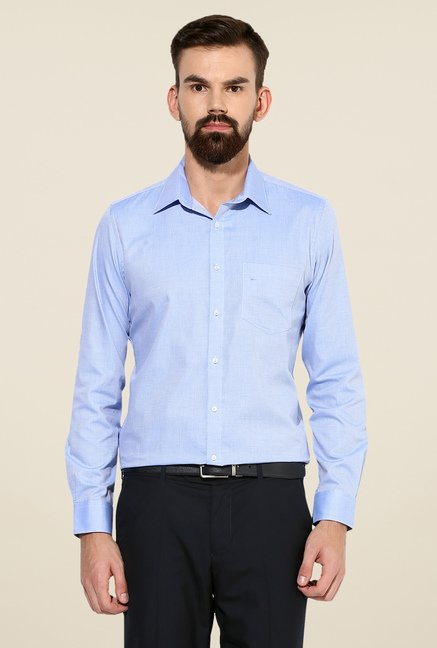 Turtle Blue Textured Shirt
