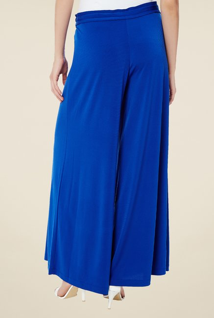 Avirate Blue Solid Palazzos