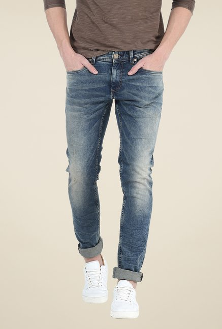 Basics Blue Tattered Jeans