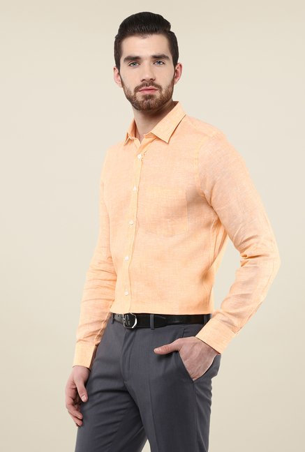Turtle Orange Linen Shirt