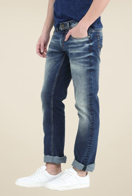 Basics Navy Lightly Washed Jeans