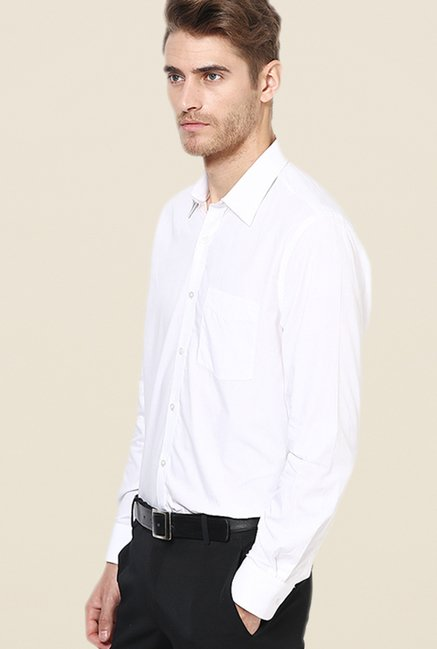 Turtle White Solid Full Sleeve Shirt
