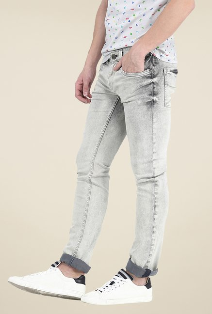 Basics Light Grey Lightly Washed Jeans