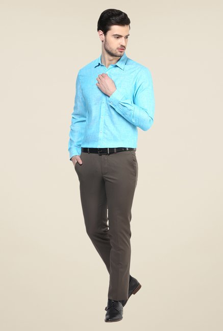 Turtle Blue Linen Shirt