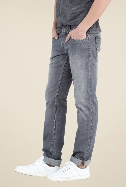 Basics Grey Lightly Washed Jeans