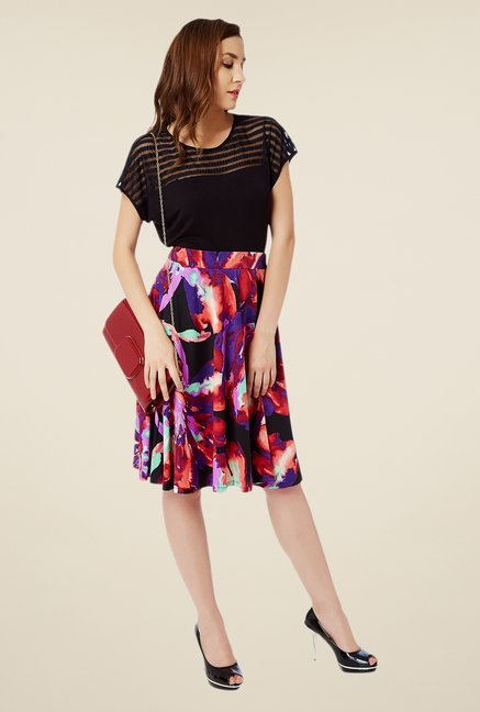 Avirate Multicolor Printed Skirt
