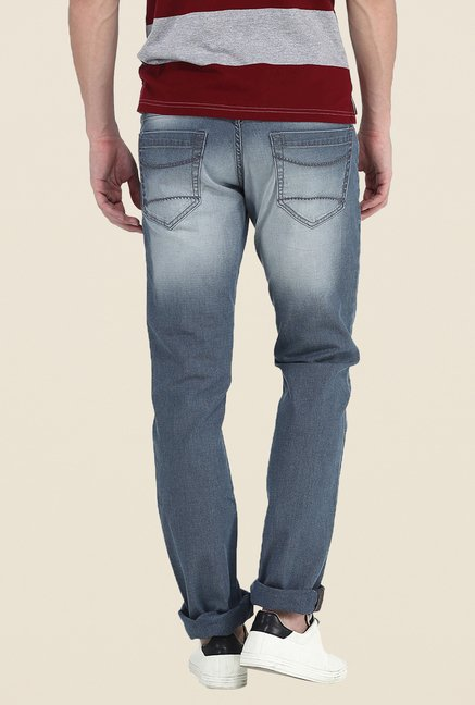 Basics Grey Solid Jeans