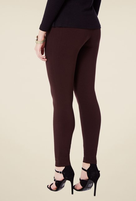 Avirate Brown Solid Ponte