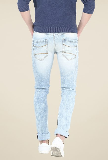 Basics Blue Lightly Washed Jeans