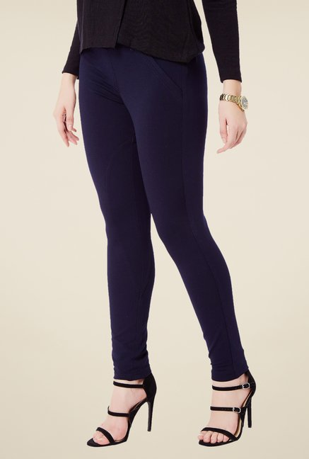 Avirate Navy Solid Ponte