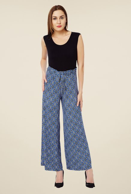 Avirate Blue Printed Palazzos