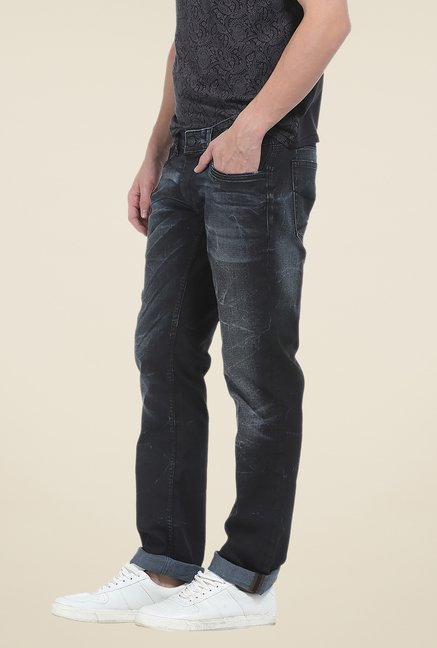 Basics Dark Grey Lightly Washed Jeans