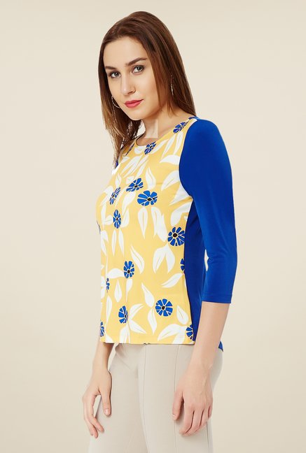 Avirate Yellow Printed Top
