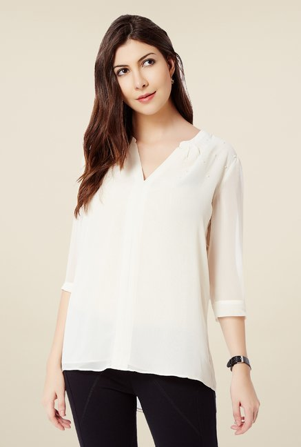Avirate Beige Solid Top