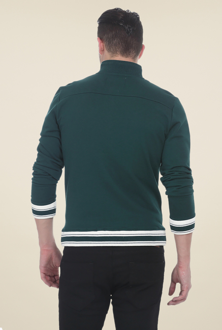 Basics Jasper Green Knit Jacket