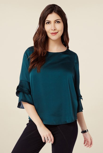 Avirate Teal Solid Top