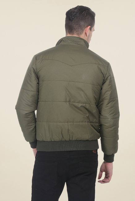 Basics Burnt Olive Polyfill Jacket
