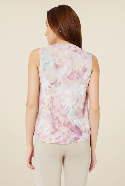 Avirate Light Pink Printed Top