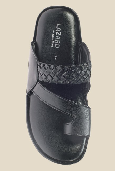 Khadim's Lazard Black Casual Sandals