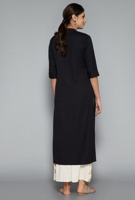 Utsa by Westside Black Solid Kurta