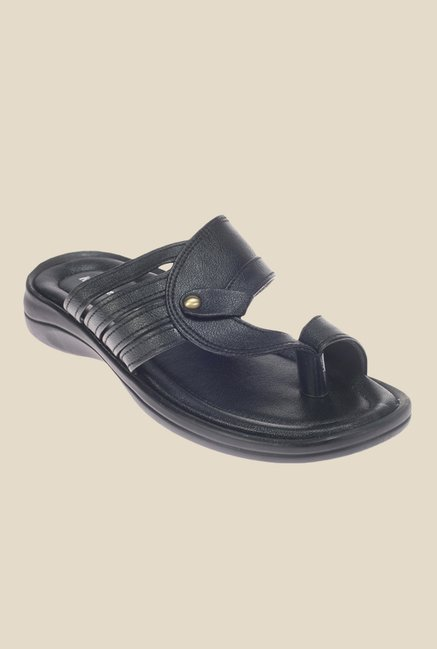 Khadim's Black Casual Sandals