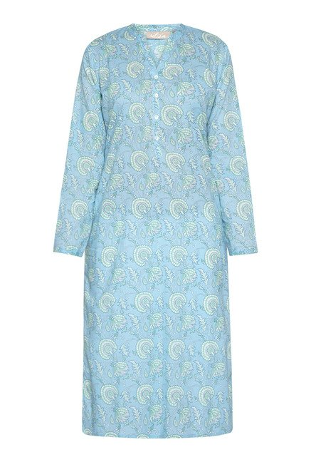 Utsa by Westside Blue Printed Kurta