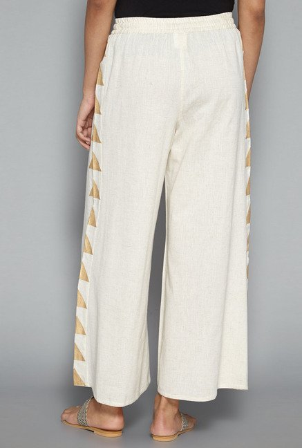 Utsa by Westside Off White Solid Palazzo