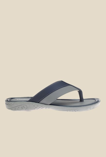 Khadim's Grey & Navy Slippers