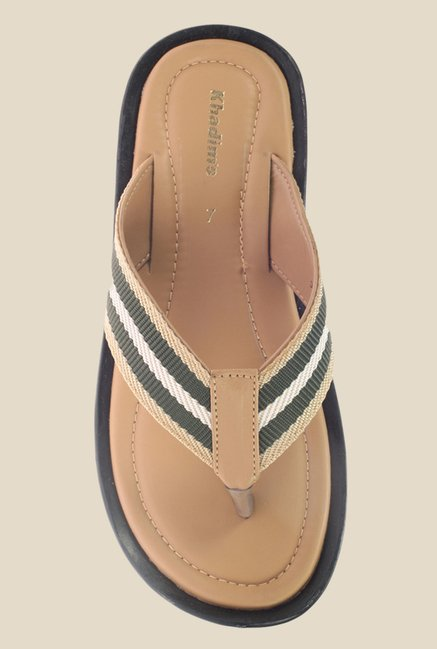 Khadim's Beige & Green Slippers
