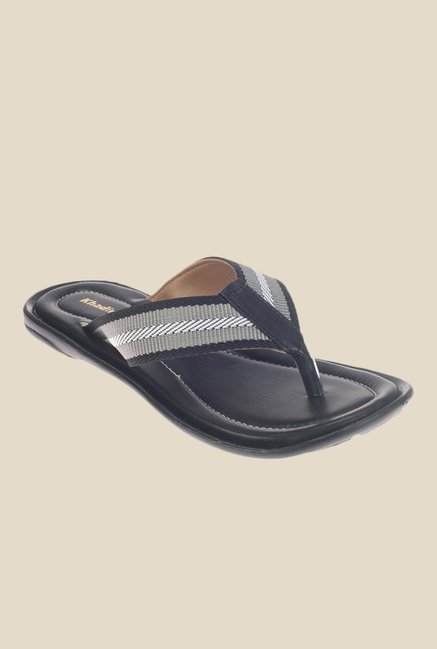 Khadim's Black & Grey Slippers
