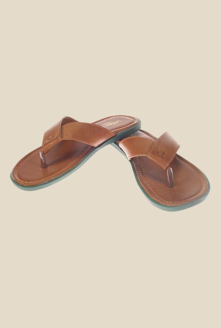 Khadim's Lazard Tan Slippers
