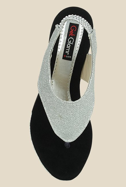 Get Glamr Marry Silver Sling Back Wedges
