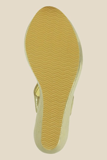 Get Glamr Terry Golden Thong Sandals
