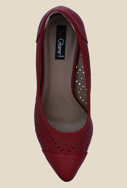 Get Glamr Frida Red Pumps