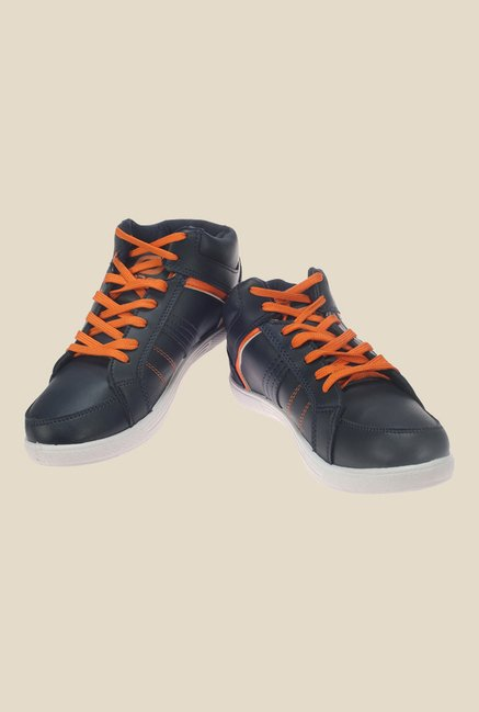 Khadim's Pro Navy & Orange Sneakers