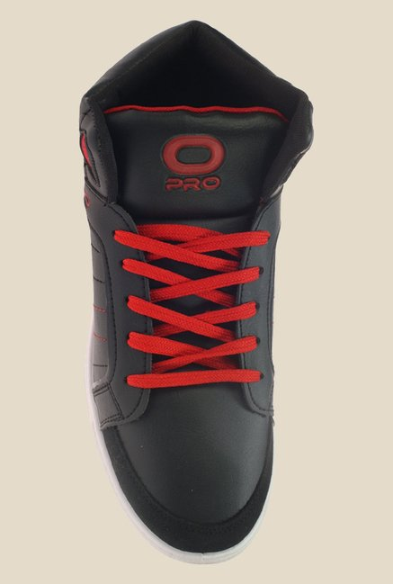 Khadim's Pro Black & Red Sneakers