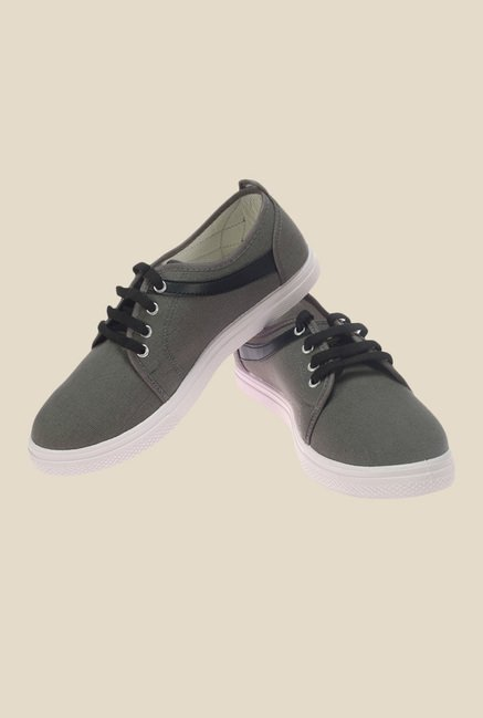Khadim's Pro Grey & Black Sneakers