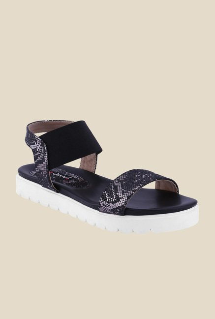 Get Glamr Sara Black Sling Back Sandals